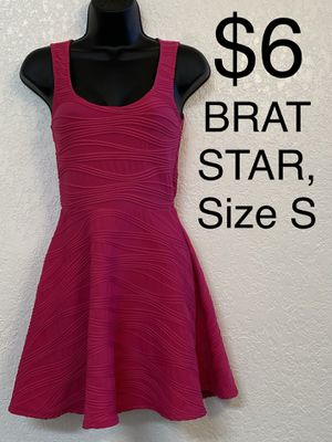BRAT STAR, Hot Pink Sleeveless Dress, Size S for Sale in Phoenix, AZ