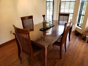 Kitchen table with glass top for Sale in Evesham Township, NJ