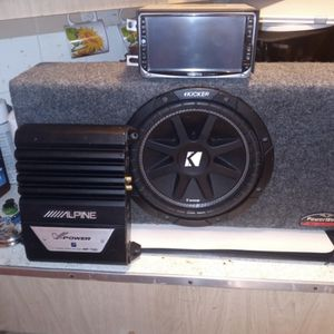 Kenwood Stereo, Alpine Amp, Kicker Sub Woofer for Sale in Lakeside, CA