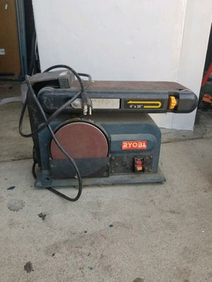 Ryobi Belt sander in exellent condition normal use missing side table for Sale in Fontana, CA