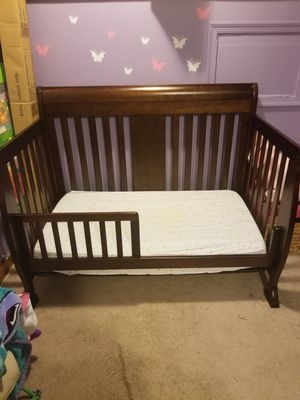 Convertible crib/toddler bed/full size bed and dresser for Sale in Baltimore, MD