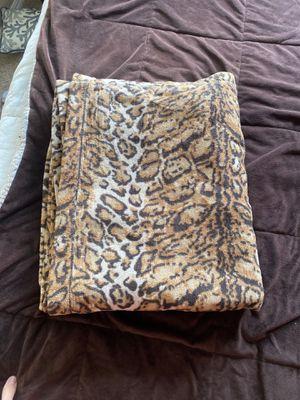 Large leopard throw blanket for Sale in La Verne, CA
