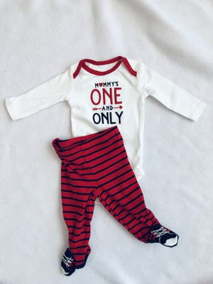 d7bb8a31beddd Valentines baby boy outfit size New born for Sale in Rockwall