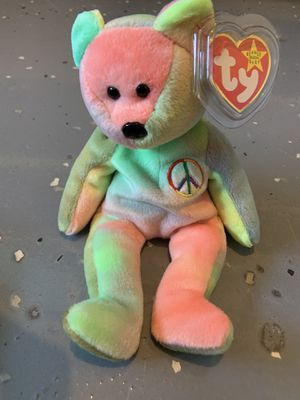 Peace bear beanie baby for Sale in Spring Hill, TN