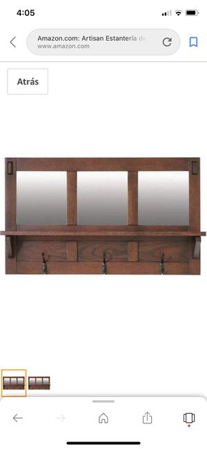"home decorators sk18481 artisan wall shelves with/mirror 18""hx7.5""dx 30""w for Sale in Dallas, GA"