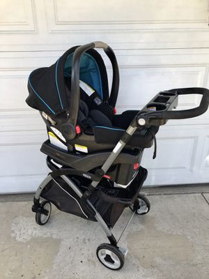 GRACO SNUGRIDE INFANT CAR SEAT AND CADDY STROLLER!!!! for Sale in San Bernardino, CA