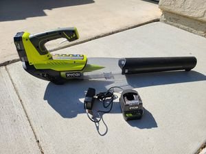 RYOBI ONE+ 100 MPH 280 CFM Variable-Speed 18-Volt Lithium-Ion Cordless Jet Fan Leaf Blower for Sale in Murrieta, CA