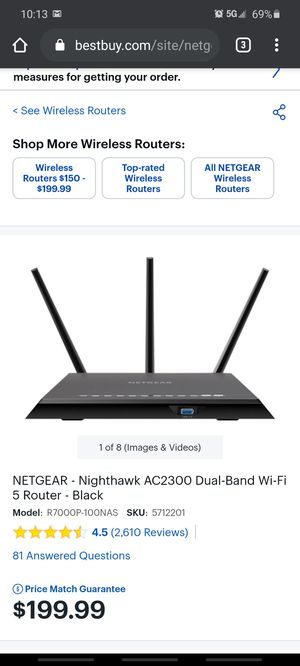 Netgear smart wifi router for Sale in El Paso, TX