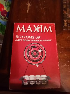 Bottoms Up dart board drinking game for Sale in Valley View, OH