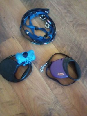 2 Extendable Pet Leashes and 1 Pet Leash with Collar for Sale in Minneapolis, MN