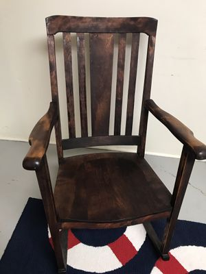 Classic Wood Rocking Chair for Sale in Falls Church, VA