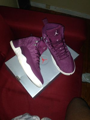 Jordans 12s hihg top purple joints only wore twice for Sale in Detroit, MI