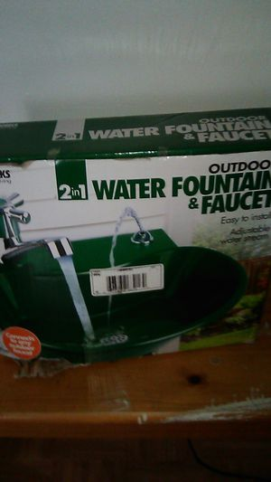 Water fountain and faucet 10$ for Sale in El Cajon, CA