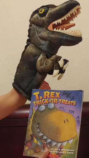 Tyrannosaurus Rex stage Puppet and book for Sale in Austin, TX