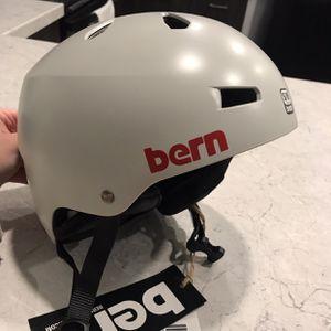 Bern Macon Light Grey Helmet S/M + Earpads & Kulkea Speed Bag (NEVER USED) for Sale in Sandy, UT