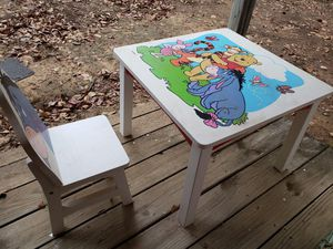 Kids table and chair, Disney design for Sale in Flower Mound, TX
