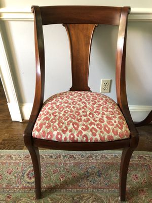 6 antique wood chairs newly reupholstered for Sale in Atlanta, GA