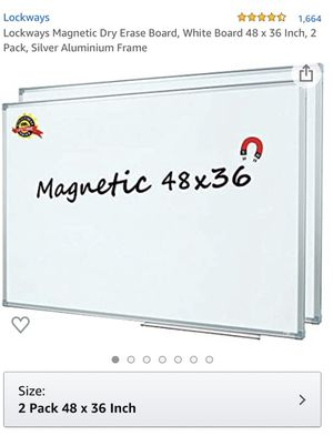 2 white boards with magnets great for home schooling for Sale in Wheaton, IL