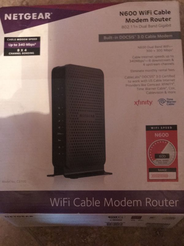 Netgear N600 Cable Modem Router (BRAND NEW)