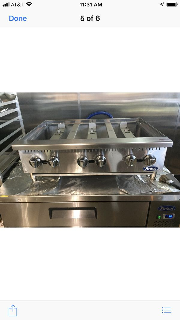 Atosa Athp 36 6 Heavy Duty Stainless Steel 36 Quot Six Burner