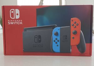 Brand New Nintendo Switch 32GB Console Neon Red/Neon Blue Joy-Con for Sale in Towson, MD