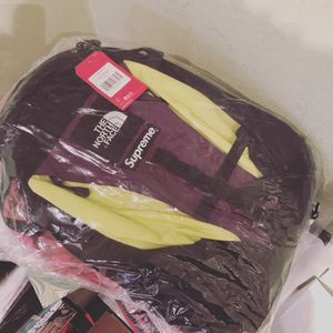Supreme north face backpack sulfur color way for Sale in Staten Island, NY