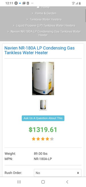 Brand new water heater. NAVIEN NR-180A (Tankless.water heater/ brand new in box) for Sale in Richmond, CA