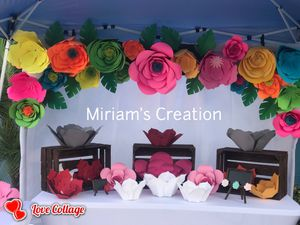 Backdrop paper flowers for Sale in Lakeland, FL