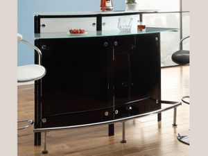 BLACK CHROME MODERN BAR UNIT with 2 barstools for Sale in Saint Joseph, MO