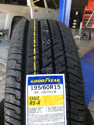 195/60/15 New set of Goodyear tires installed for Sale in Rancho Cucamonga, CA