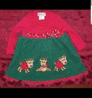New Girls Size 2T Christmas Reindeer Dress for Sale in Norwalk, CT