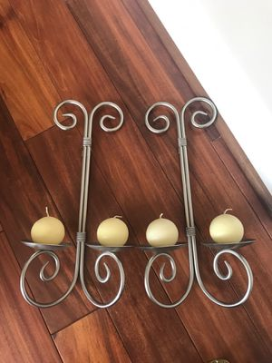 Beautiful wall candle stands $10 from Pier one store for Sale in Ashburn, VA