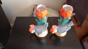 Antique parrot vases or candle holders have been stored in cabinet for over 10 years. In pretty good condition for Sale in Centralia, WA