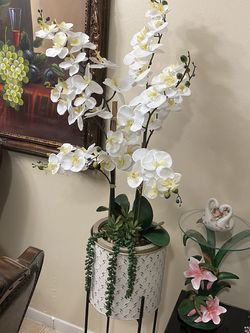 Orchid Arreglament With Vase New Condition $50 for Sale in Boca Raton,  FL