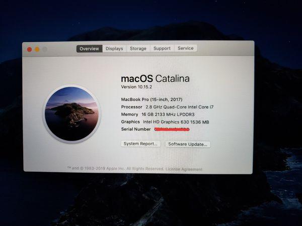 "2017 Macbook Pro 15"" with AppleCare"