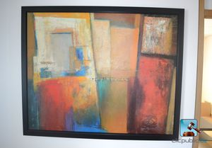 Large Abstract Framed Canvas Art for Sale in Springfield, PA