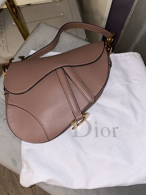 AUTH DIOR CHRISTIAN DIOR SADDLE BAG NUDE LATEST STYLE for Sale in Los Angeles, CA