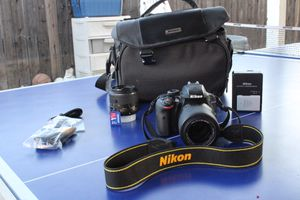 NIKON D3300,55-200mm lens,SD CARD,CHARGER,CABLES,CUSTAMIZABLE CASE!!!! for Sale in Los Angeles, CA