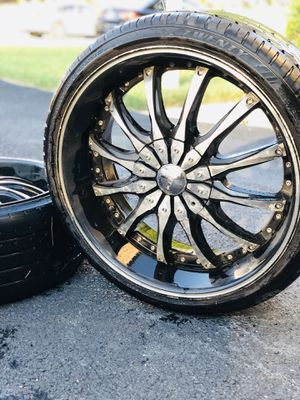 "🔥🔥Set of 4 20"" rims with low profile tires🔥🔥 for Sale in Richmond, VA"