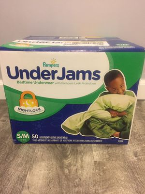 Pampers UnderJams bedtime underwear $18/ pick up Gahanna Firm Price for Sale in Columbus, OH