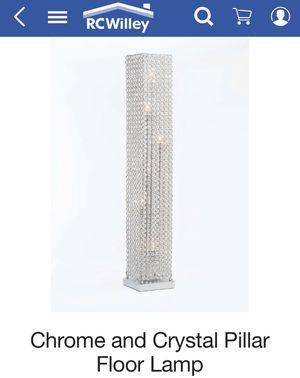 Crystal pillar floor lamp for Sale in Salt Lake City, UT