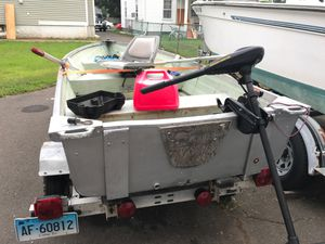 Aluminum boat for sale 12' with trailer for Sale in West Haven, CT