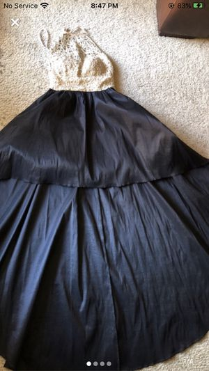 Black long ball dress/ prom for Sale in Thousand Palms, CA
