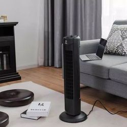28 in. Black Oscillating Tower Fan with 3 Wind Speeds for Sale in Riverside,  CA