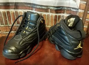 Nike Air Jordan Pro Strong Basketball Shoes Size 11C Toddler Boys Girls Black Gold Sneakers for Sale in Tampa, FL