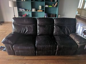 Authentic Leather Power Sofa for Sale in Fort Wayne, IN