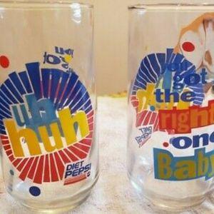 Set of 2 Diet Pepsi vintage glasses for Sale in Port St. Lucie, FL