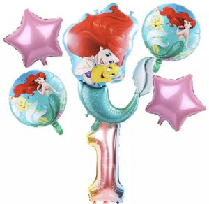 The Little Mermaid 6pcs cute foil balloons. for Sale in Los Angeles, CA