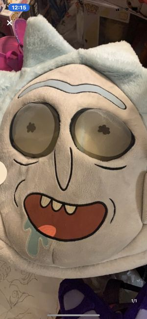 Rick and morty plush head halloween mask for Sale in Colorado Springs, CO