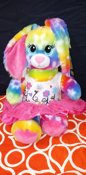 Nwt Build a Bear Bright Blooms Rainbow Daisy Bunny 16 in. Stuffed Plush Toy Animal for Sale in Pompano Beach, FL